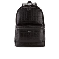 Michael Michael Kors Men's Bryant Embossed Croc Backpack Black
