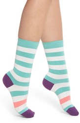 Paul Smith Fearne Stripe Crew Socks Teal