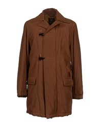 Piero Guidi Coats And Jackets Coats Men Brown