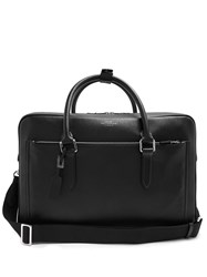 Smythson Burlington Leather Briefcase Black