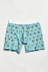 Urban Outfitters Cross Stitch Boxer Brief Blue Multi