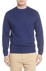 Men's Bobby Jones Pima Cotton Crewneck Sweater Summer Navy