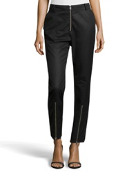 Mcq By Alexander Mcqueen Mcq Alexander Mcqueen Twill Zipper Embellished Trousers Black