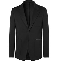 Givenchy Black Logo Print Tech Jersey Blazer Black