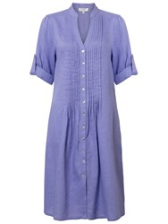 East Pintuck Linen Dress Viola