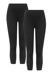 Topshop Maternity Multipack Leggings Black