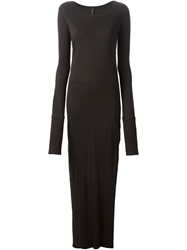 Barbara I Gongini Asymmetric Long Front Dress Black