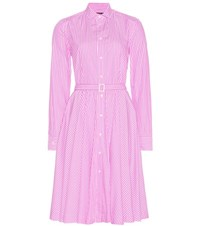 Polo Ralph Lauren Dori Striped Cotton Shirt Dress Pink