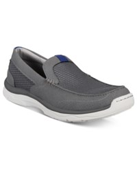 Clarks Men's Marus Step Slip On Boat Shoes Men's Shoes Gray