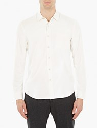 Our Legacy Off White Raw Silk Shirt