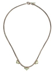 Brooke Gregson 18Kt Yellow Gold Triple Pyramid Necklace 60