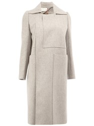 Maison Rabih Kayrouz Square Neck Coat Grey