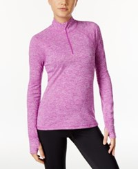 Ideology Rapidry Half Zip Performance Pullover Only At Macy's Purple Cactus