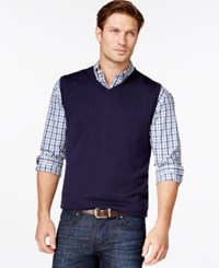 Cutter And Buck Douglas V Neck Sweater Vest Liberty Navy