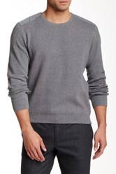 Kenneth Cole Milano Crew Sweater Gray