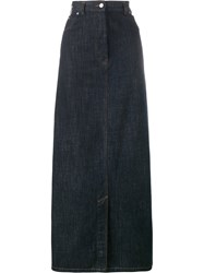 Dries Van Noten Silvan Long Skirt Blue
