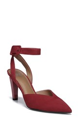 Franco Sarto By Santi Ankle Strap Pump Cherry Suede