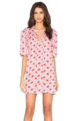 Cp Shades Regina Floral Tunic Dress Red