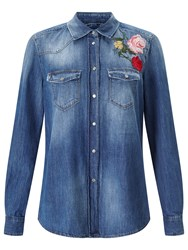 7 For All Mankind Embroidered Flower Shirt Multi