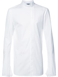 Thamanyah Off Centre Fastening Shirt White