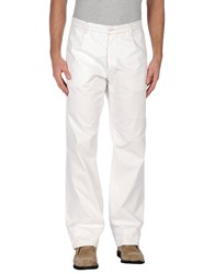 Trussardi Jeans Trousers Casual Trousers Men White