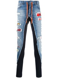 Paul And Shark Contrast Panel Multi Patch Jeans 60