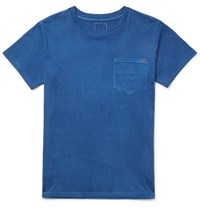 Visvim Overdyed Cotton Jersey T Shirt Blue