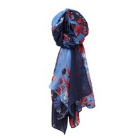 Joules Wensley Scarf Navy Multi
