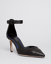 Elie Tahari Pointed Toe D'orsay Pumps Westside High Heel Brush Snake Premium Nappa