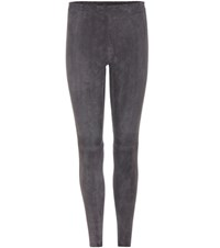 Stouls Carlson Agneu Suede Trousers Grey