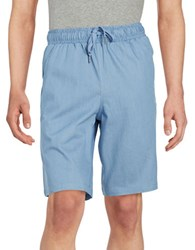 Laboratory Lt Man Drawstring Stretch Cotton Shorts Red