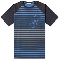 J.W.Anderson Jw Anderson Anchor And Stripe Tee Blue