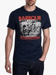 Barbour International Short Sleeve Archive Print T Shirt Navy
