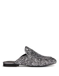 Kenneth Cole Wallice Glitter Mules Pewter