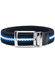 Paul And Shark Embroidered Reversible Belt Blue