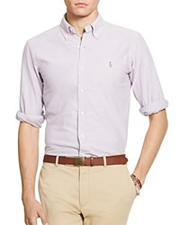 Polo Ralph Lauren Cotton Oxford Classic Fit Button Down Shirt Purple White