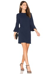 Tibi Bell Sleeve Dress Blue