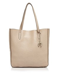 Etienne Aigner Joan Pebbled Leather Tote Taupe Gold