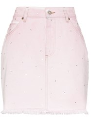 Miu Miu Crystal Embellished Denim Mini Skirt 60