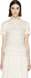 Cedric Charlier Ivory Fringed Top