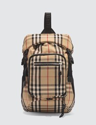 Burberry Vintage Check Bonded Backpack Beige