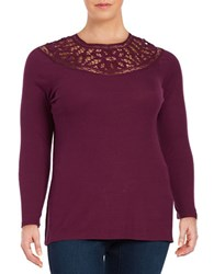 Jessica Simpson Plus Adora Tieback Hi Lo Top Purple