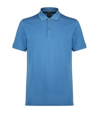 Boss Pima Cotton Polo Shirt Blue