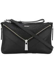 Diesel Leli Crossbody Bag Calf Leather Black