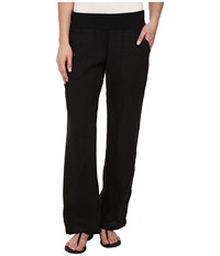 Allen Allen Linen Long Pant Black Women's Casual Pants