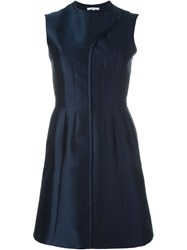 Carven Sleeveless Fitted Evening Dress Blue