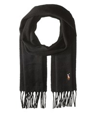 Polo Ralph Lauren Signature Cashmere Scarf Black Scarves