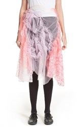 Comme Des Garcons Women's Tricot Raschel Tulle And Lace Skirt