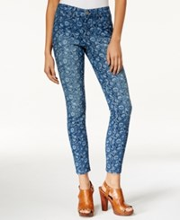 Maison Jules Floral Print Skinny Jeans Only At Macy's Medium Wash