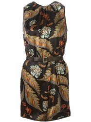 Dsquared2 Flower Print Dress Black